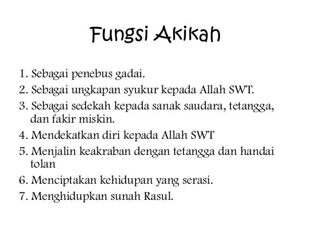 fugsi aqiqah